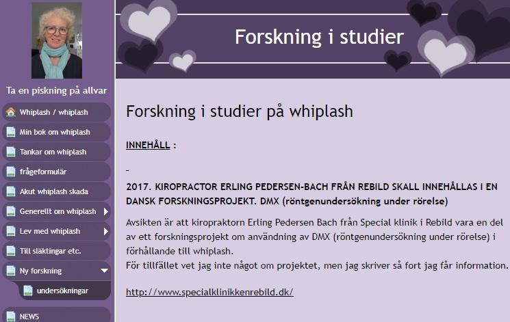 Forskning i studier på whiplash