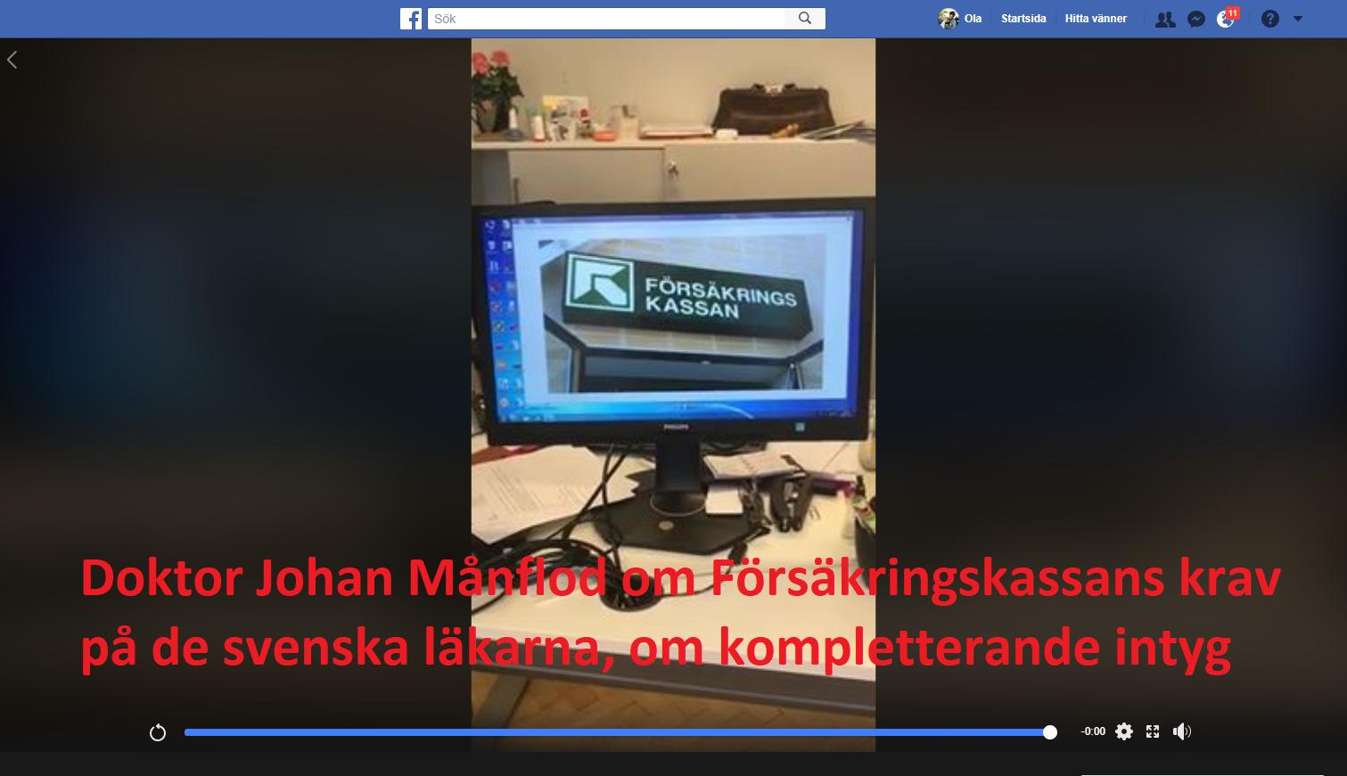 Johan Månflod vs Försäkringskassan