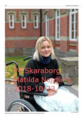 Sveriges Radio P4 Skaraborg, Matilda Nordling 2018-10-23