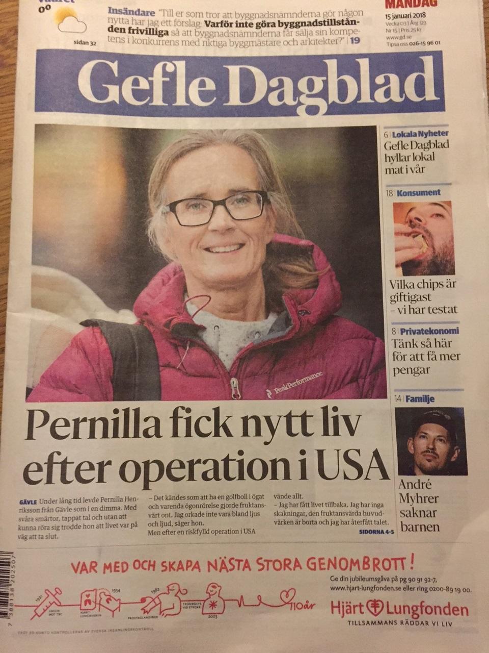 Pernilla fick nytt liv