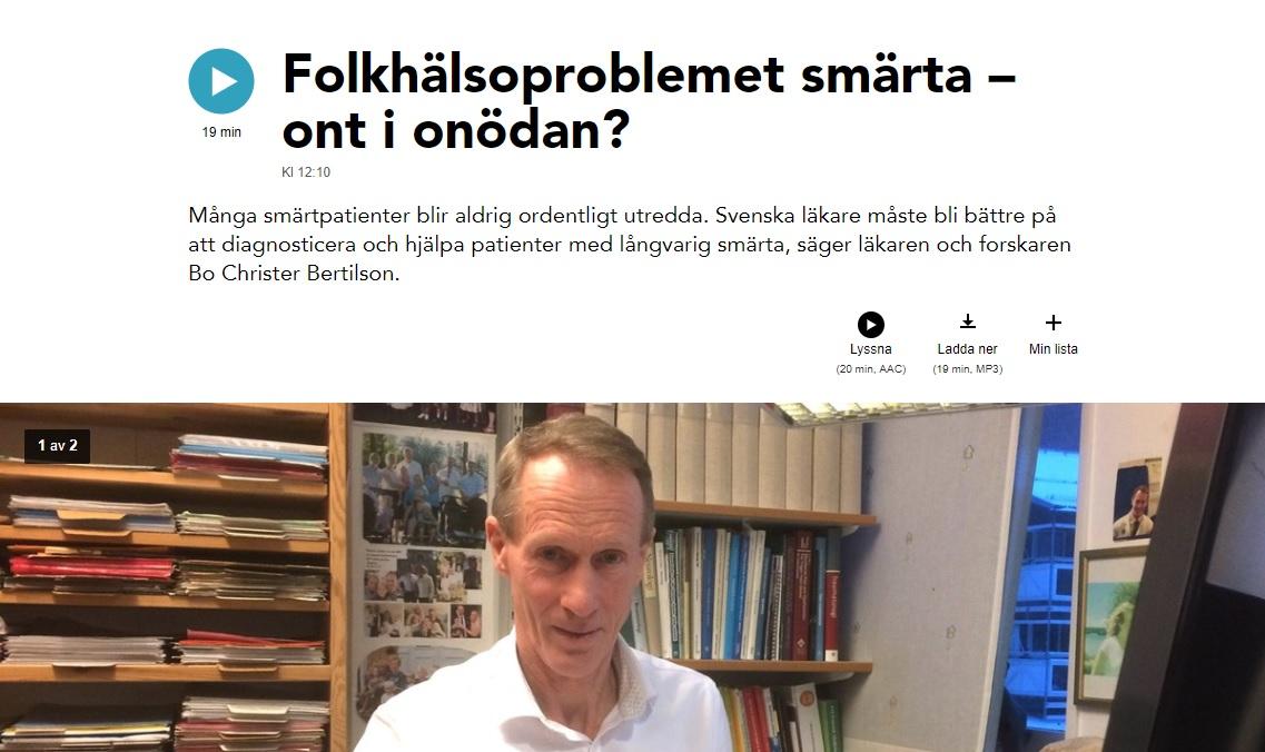 Folkhälsoproblemet smärta – ont i onödan? 12 mars kl 12:10 - Vetandets värld | Sveriges Radio