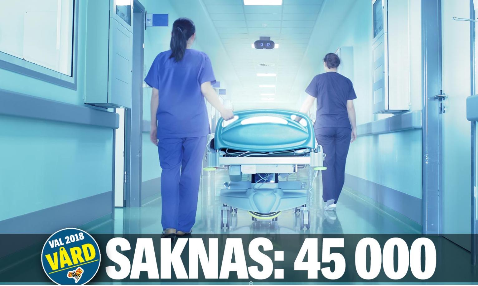 Landstingens fel att 45000 sjuksköterskor saknas.