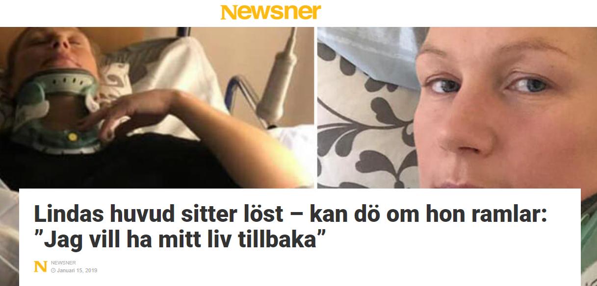 2019-01-15 Lindas huvud sitter löst - Newsner