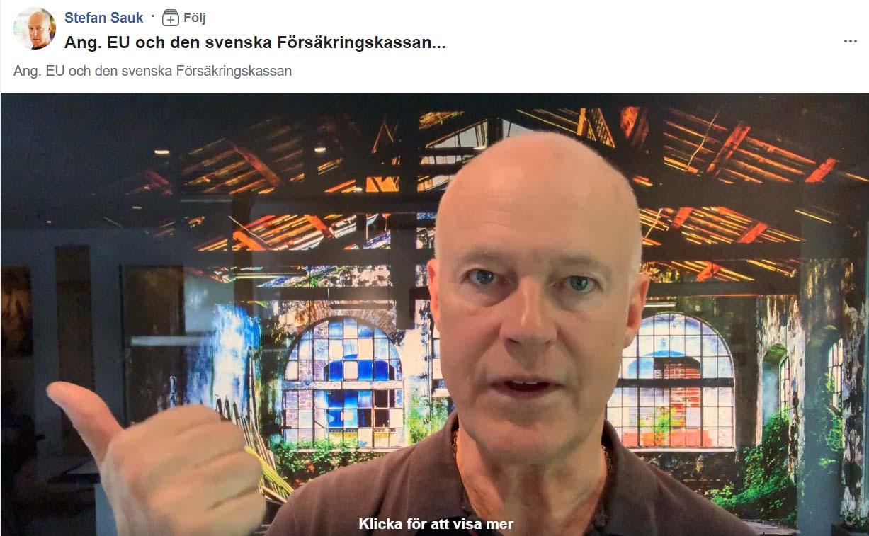 Stefan Sauk ang. Försäkringskassan